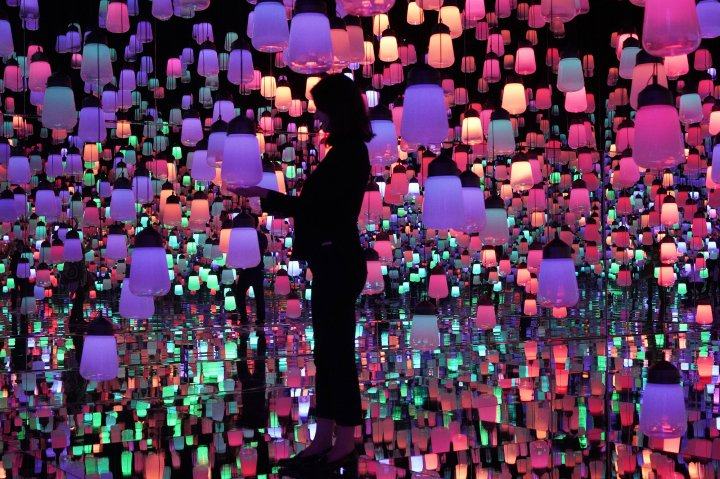 (180611) -- TOKYO, June 11, 2018 (Xinhua) -- Photo taken on June 11, 2018 shows the digital installations during the media preview of the Mori Building Digital Art Museum in Tokyo, Japan. Mori Building Co. and Japanese art collective teamLab created together the digital art museum, which will open on June 21. (Xinhua/Ma Zheng) (djj) Xinhua News Agency / eyevine  Contact eyevine for more information about using this image: T: +44 (0) 20 8709 8709 E: info@eyevine.com http://www.eyevine.com